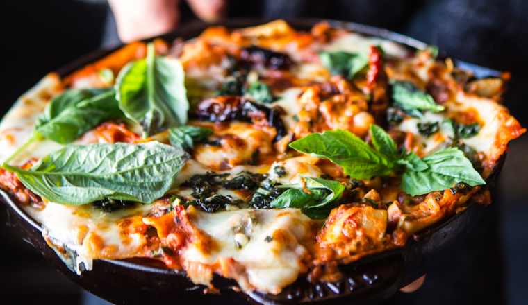 Vegetarische lasagnette