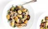 Geroosterde gnocchi met champignons, basilicum en parmezaanse kaas