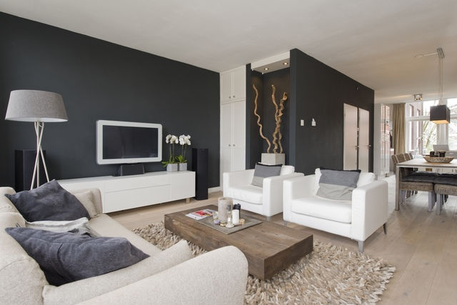 Woonkamer Zwart Grijs : Zwart wit grijs woonkamer i love my interior