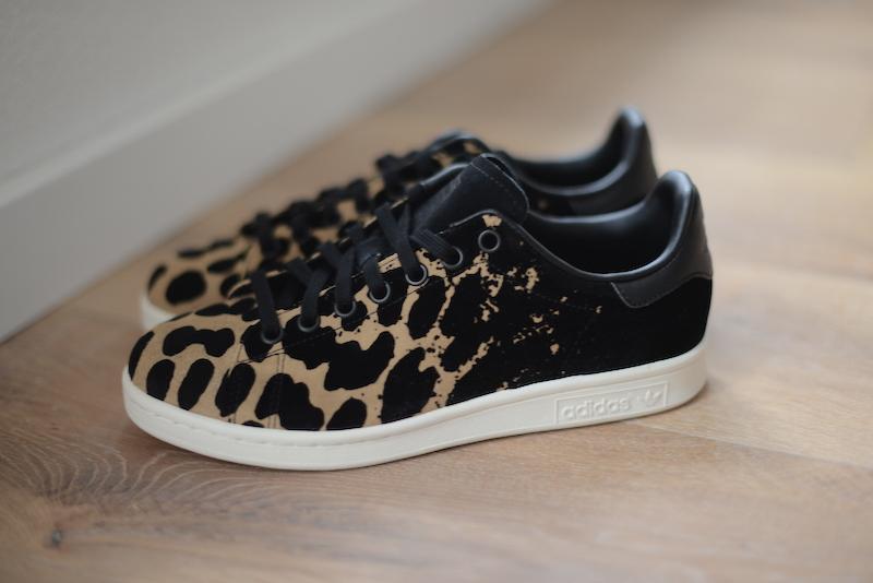 adidas stan smith zwart luipaard