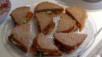 Sandwiches met zalm