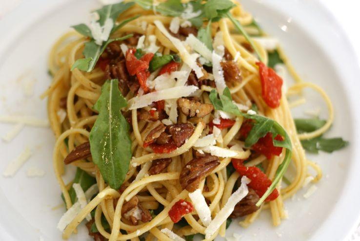 spaghetti met geroosterde paprika1