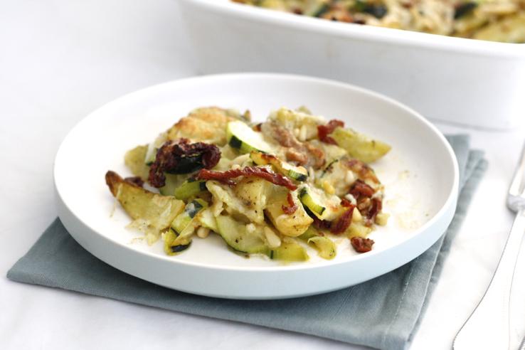 Italiaanse ovenschotel met aardappeltjes
