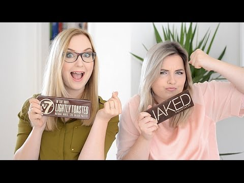 W7 Lightly Toasted vs. Urban Decay Naked 1