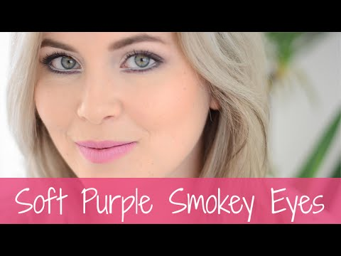Soft Purple Smokey Eyes