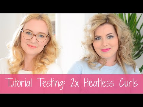Tutorial Testing: 2x Heatless Curls