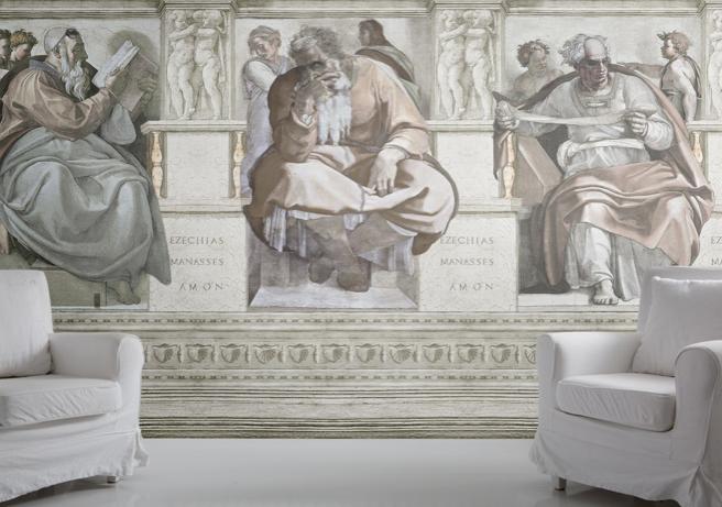 brocante slaapkamer behang – artsmedia, Deco ideeën