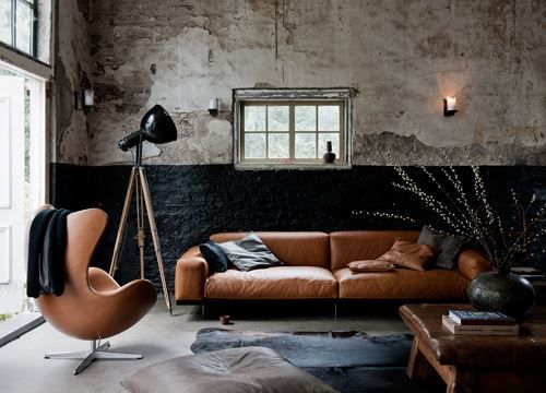 Hoekbank Keuken Marktplaats : Beautiful Cognac Leather Sofa