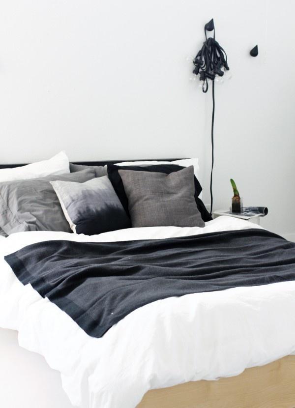 Slaapkamers in zwart-wit