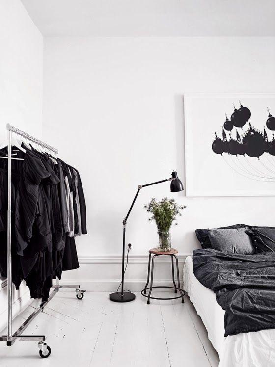 slaapkamers in zwart-wit - interior junkie, Deco ideeën