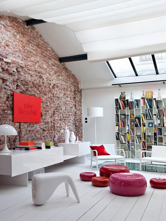 Awesome Bakstenen Muur Woonkamer Contemporary - Trend Ideas 2018 ...