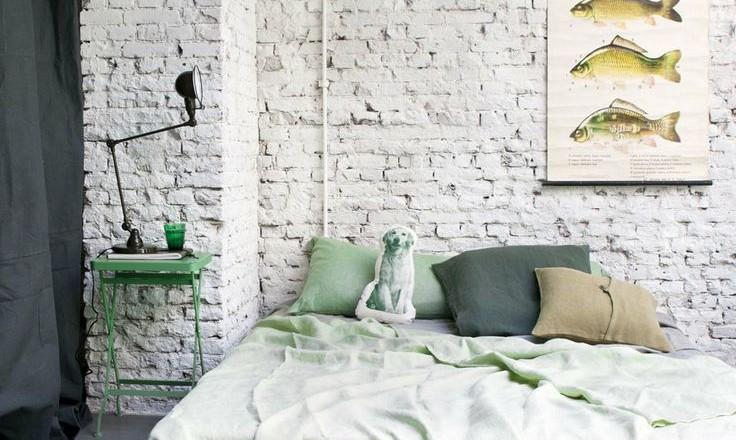 Stenen Muur Woonkamer: Lekker rauw een bakstenen muur in huis ...