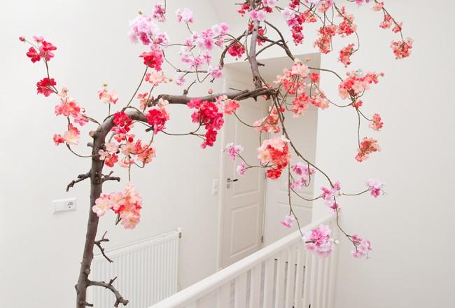 Japanse Woonkamer: Japanse bloesem woonkamer muursticker deco stickers ...