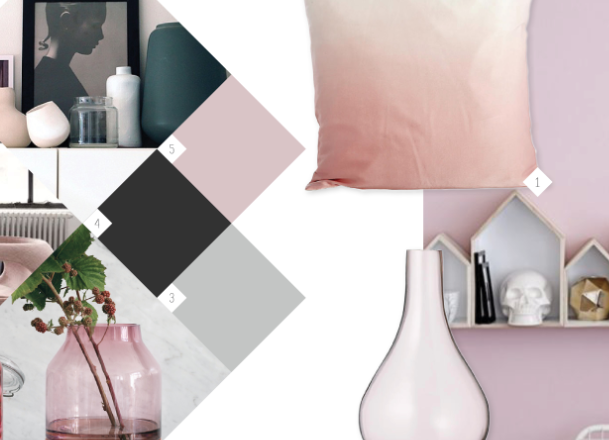 Roze accessoires woonkamer
