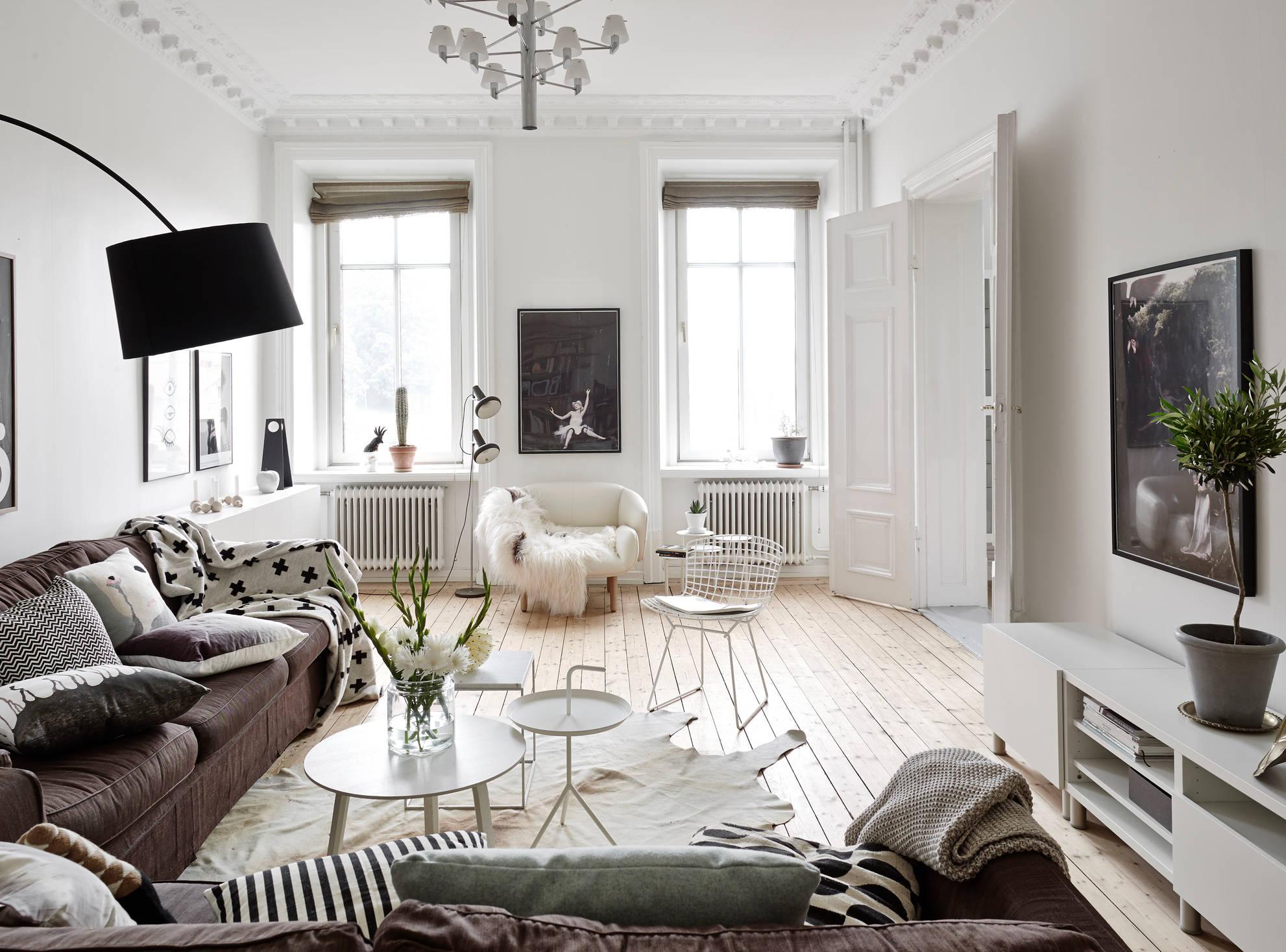 Neutraal kleurenpalet in een zweeds huis   interior junkie