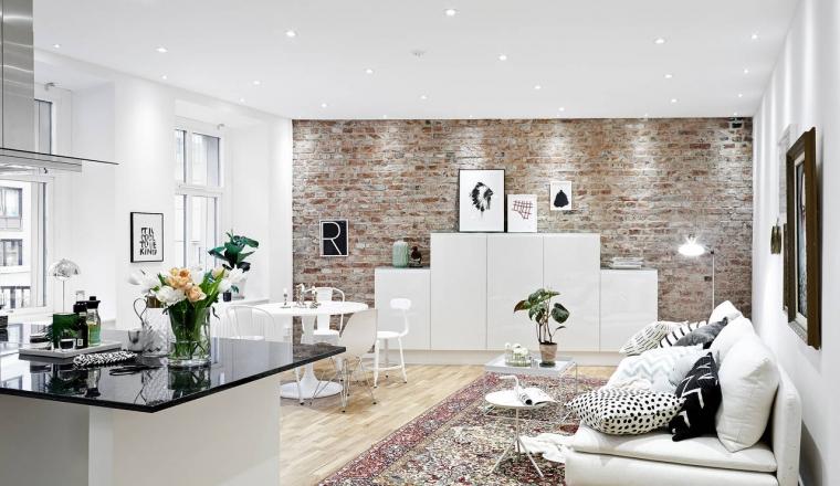 Inrichten Woonkamer Met Open Keuken : In de woonkamer en hal ?n keuken ...