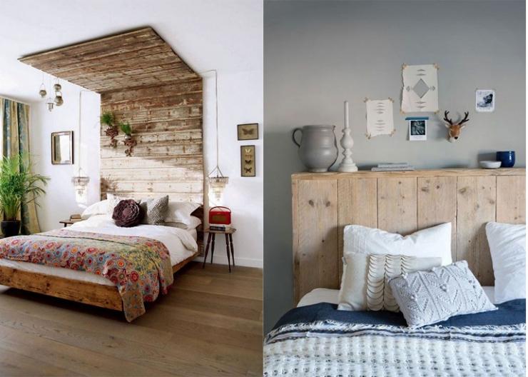 Houten Achterwand Slaapkamer : DIY Bedroom Interior Design