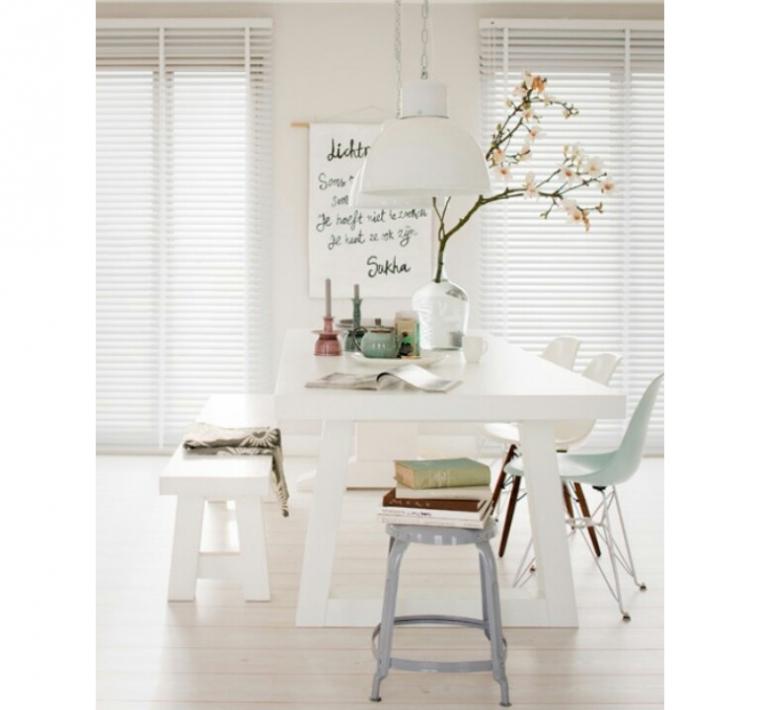 Eettafel wit hout loungeset 2017 - Tafel eetkamer hout wit ...