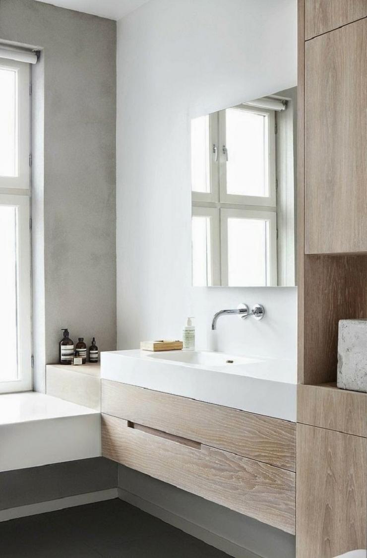 8x hout in de badkamer   interior junkie