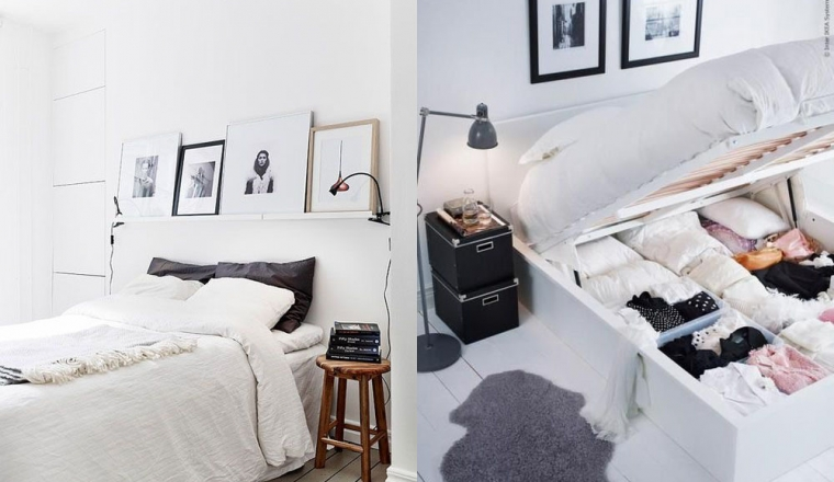 11x tips voor een kleine slaapkamer interior junkie - Een kleine rechthoekige woonkamer geven ...