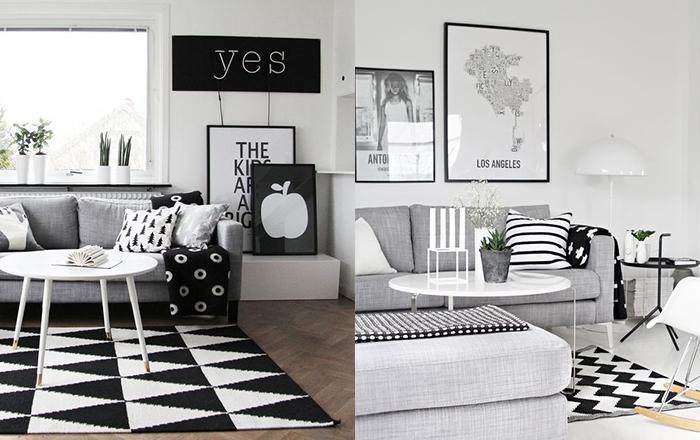 8x zwart-witte vloerkleden in huis - interior junkie, Deco ideeën