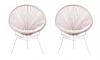 Woonvondst: zachte roze draadstoel
