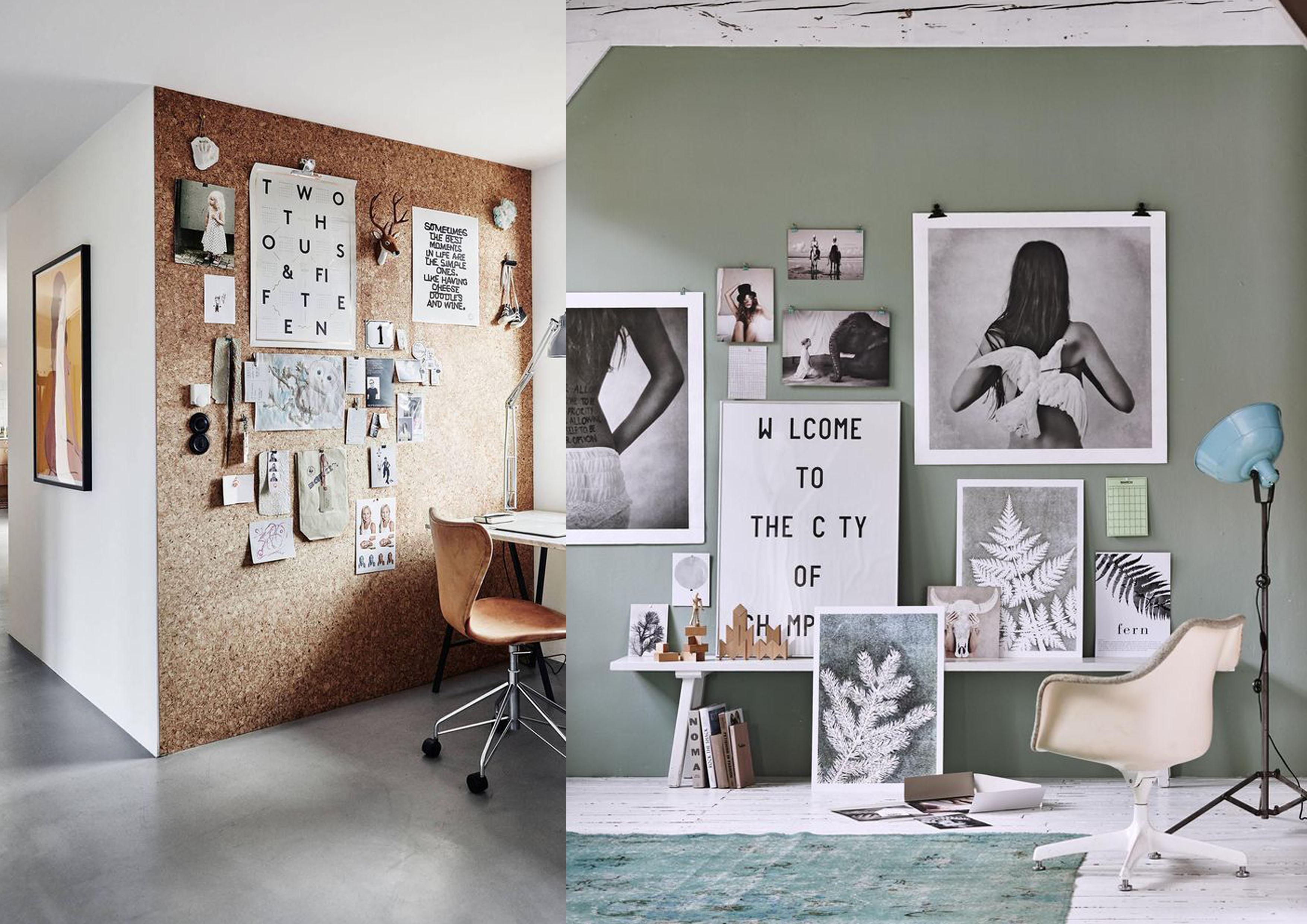 diy maak je eigen fotowand interior junkie. Black Bedroom Furniture Sets. Home Design Ideas