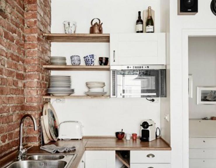 Kleine Keuken Inrichten : Kleine woonkamer met open keuken inrichten