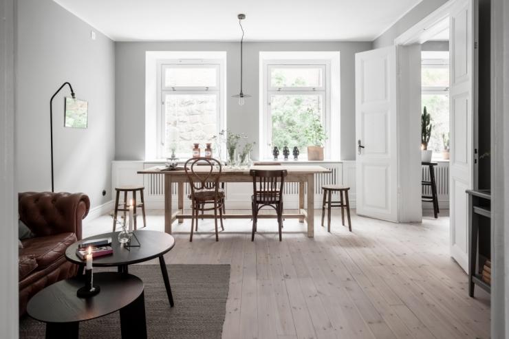 Zweeds appartement vol met beton   interior junkie