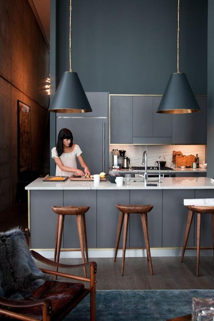 10x Koper en zwart in de keuken