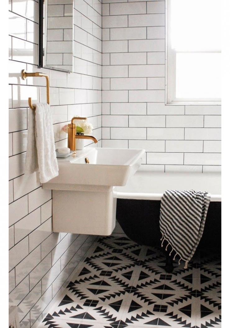 inspiratie voor metrotegels in de badkamer - interior junkie, Badkamer