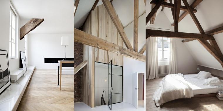 werken met houten balken in huis - interior junkie, Deco ideeën