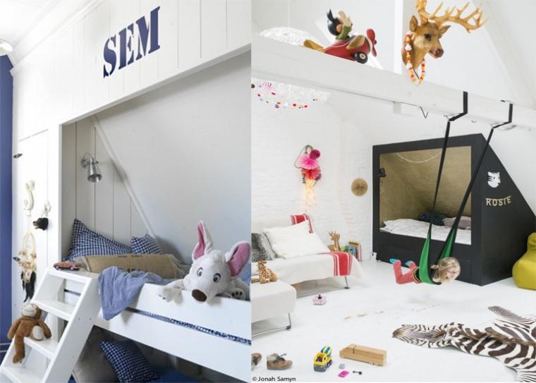 pronken met een bedstee in de kinderkamer - interior junkie, Deco ideeën