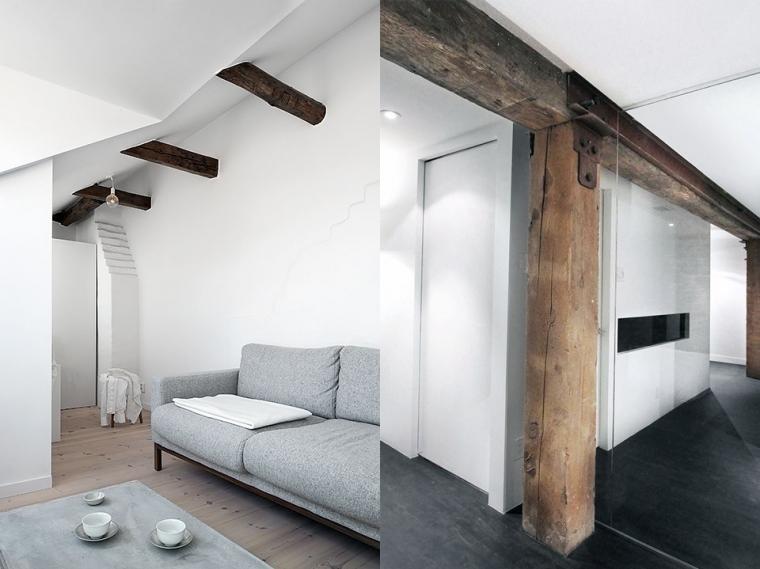 Balken geverfd wit eiken plafondbalken schilderen archidev