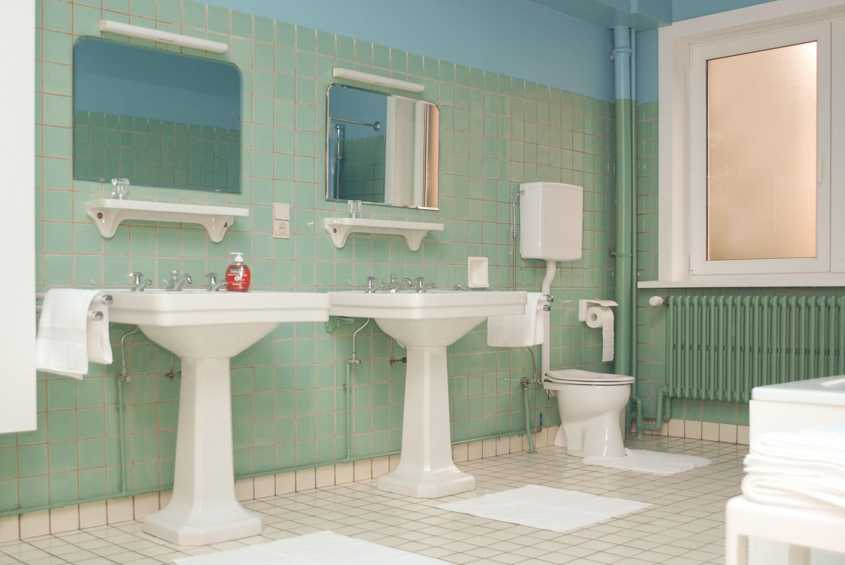 Badkamer jaren 50 stijl - Deco toilet grijs ...