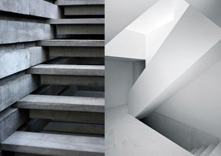 Grenen trap geborsteld design decoratie huis trap licht risofu