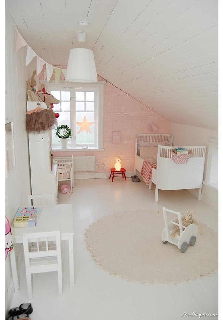 Scandinavisch wonen slaapkamer interieur meubilair idee n for Kamer klein meisje