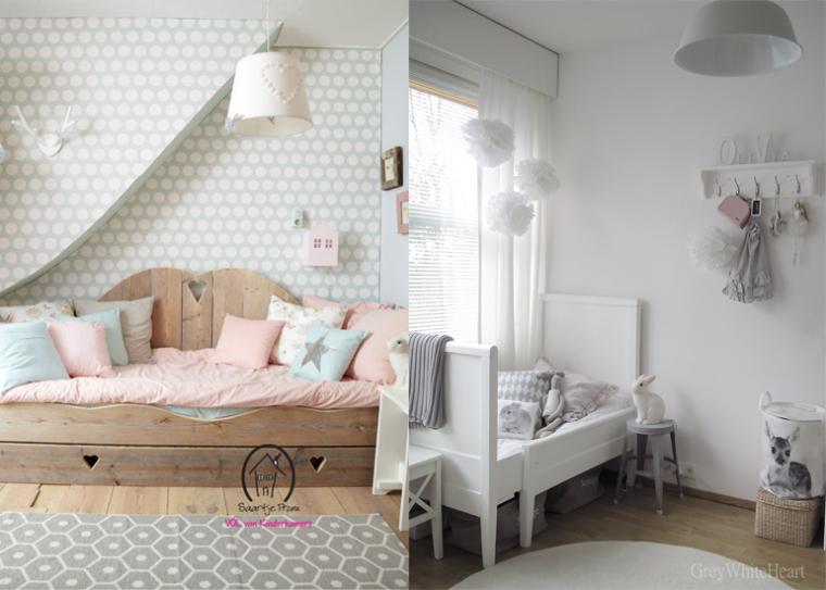 Romantische meisjeskamer interieur meubilair idee n - Romantische witte bed ...