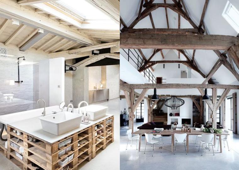 Interieur met balken houten balken royalty vrije foto s plaatjes beelden en stock - Interieur eigentijds houten huis ...