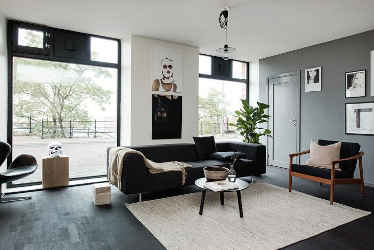 huis vol met zwart, wit en grijstinten - interior junkie, Deco ideeën