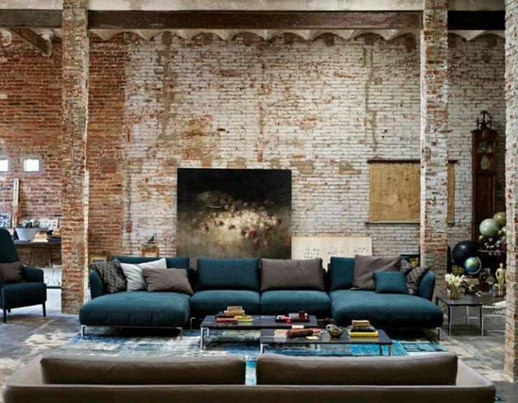 Stenen Muur Interieur. Perfect Hdartisan Moderne Canvas Fotografie ...
