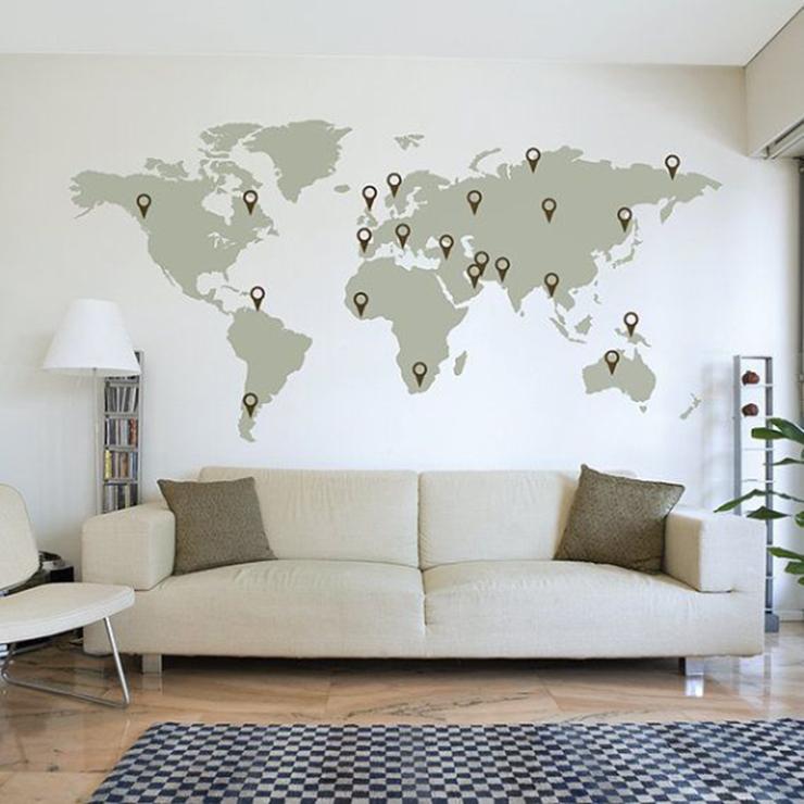 Globetrotters opgelet! De wereld aan je muur...
