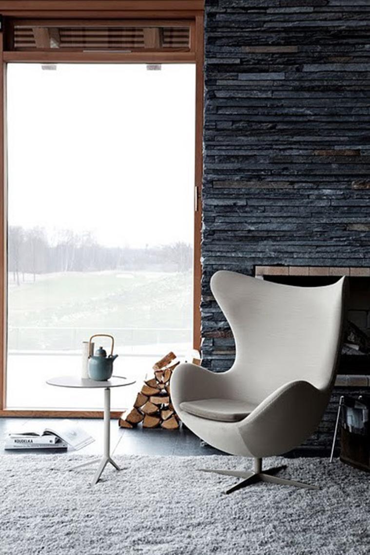 Rocken met stenen design pronkstukken in huis