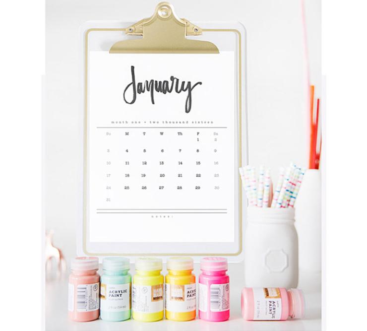 DIY kalenders voor een stijlvol 2016
