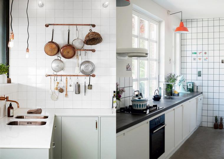 Mooi voor in huis: witte vierkante tegels - INTERIOR JUNKIE