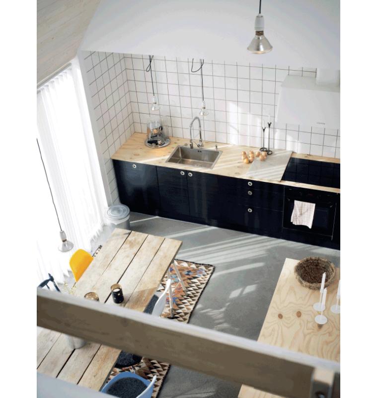 ... keuken te staan dus bij ons zou een muur met witte vierkante tegeltjes