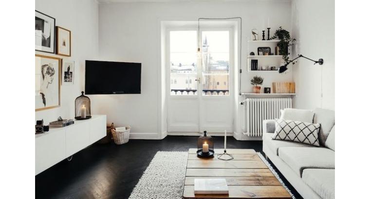 weer eens iets anders: een zwarte vloer - interior junkie, Deco ideeën
