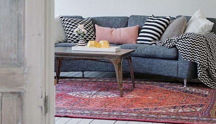 Gekleurde Slaapkamer Verlichting : 10x gekleurde vloerkleden in huis ...