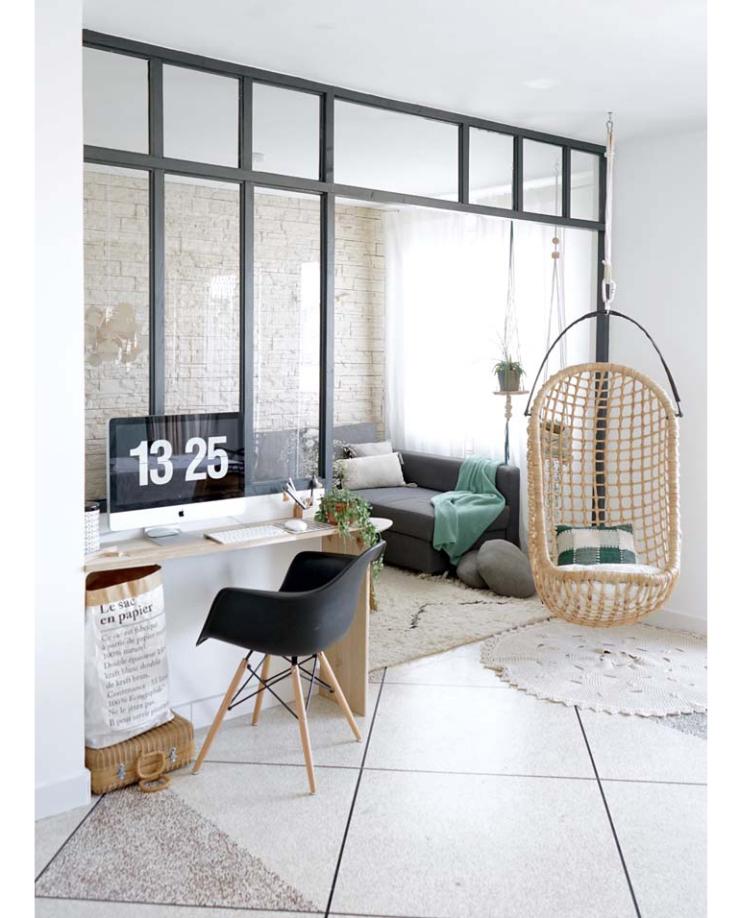 huis met industriele raampartijen als afscheiding - interior junkie, Deco ideeën