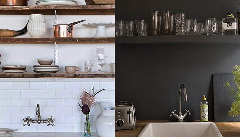 Brocante Keuken Planken : Mooi voor in de keuken: zwevende planken – INTERIOR JUNKIE